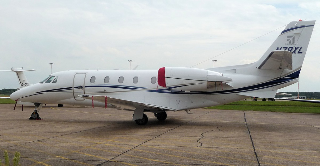 Cessna 560 Ctiation XLS+  N79XL arrived Saturday evening as a replacement for N98XL.<br /> By Correne Calow.
