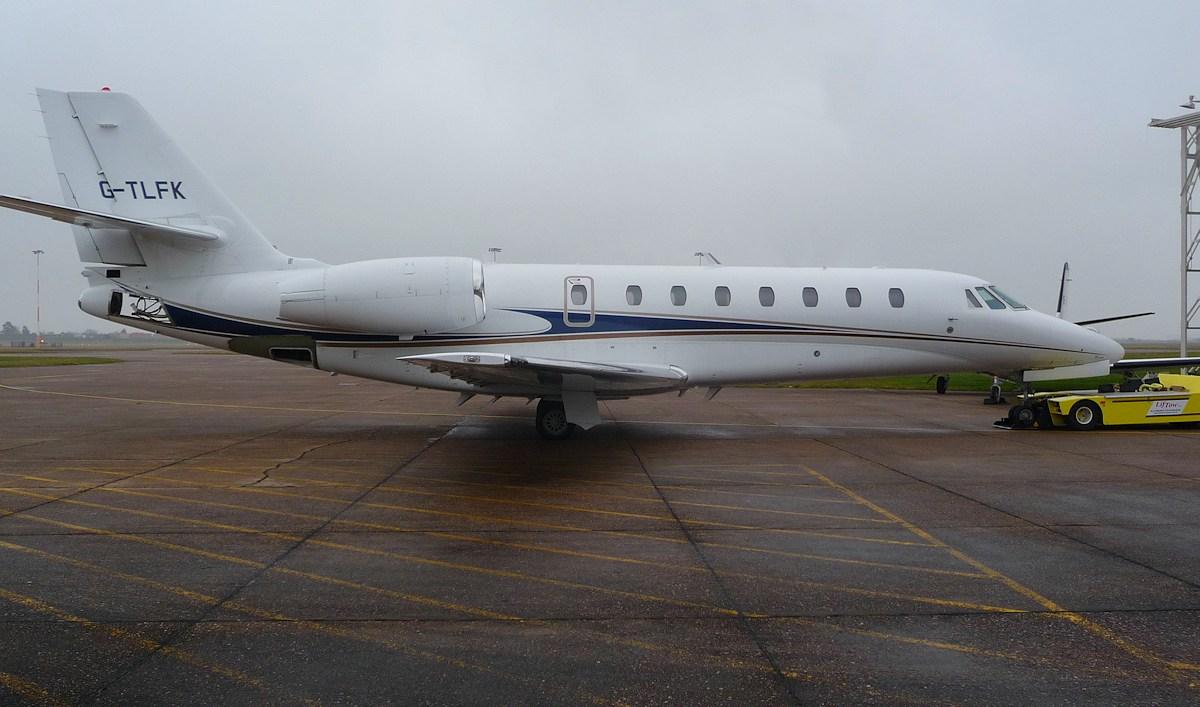 Cessna 680 Citation Sovereign G-TLFK<br /> By Correne Calow.