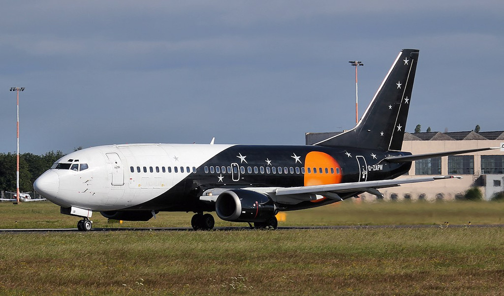 Titan Airways 737-300 G-ZAPW<br /> By Jim Calow.