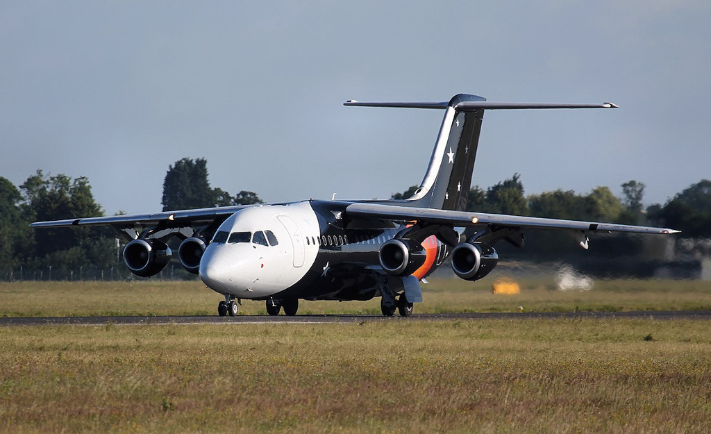Titan Airways BAe 146-200QC, G-ZAPK<br /> By Jim Calow.