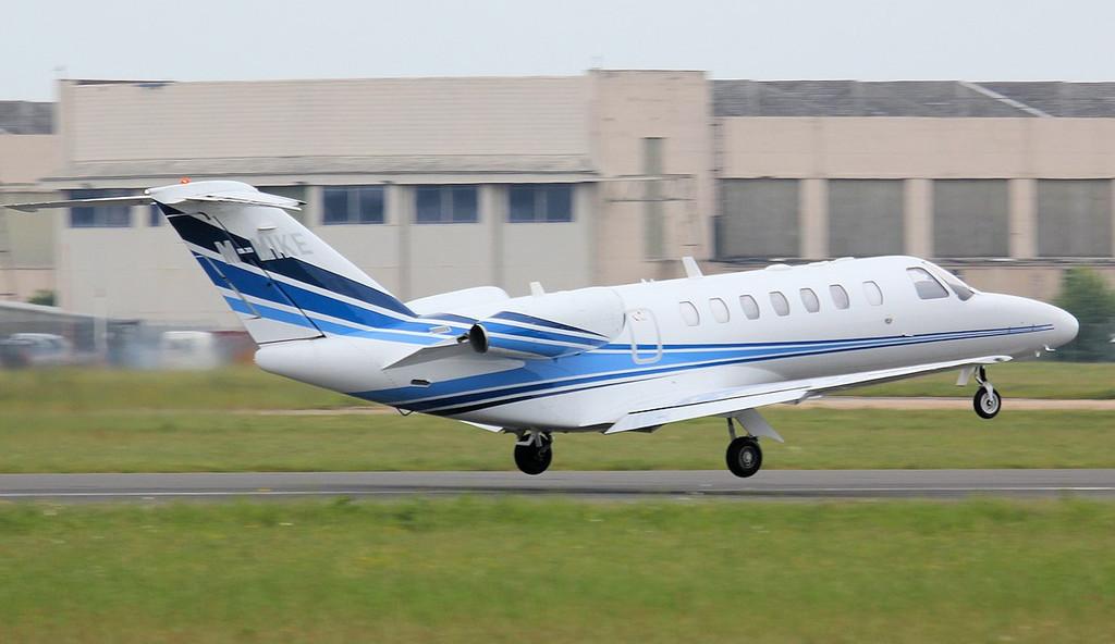 Cessna 525B Citationjet CJ3 M-MIKE.<br /> By Jim Calow.