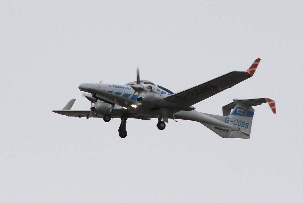Cobham Flight Inspection Diamond DA42   G-COBS <br /> By Clive Featherstone.