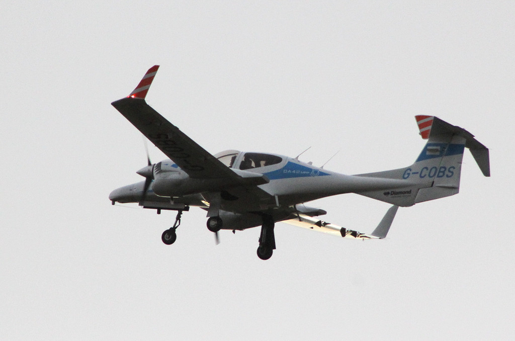 Cobham Flight Inspection Diamond DA42   G-COBS departing to DTV<br /> By Clive Featherstone.