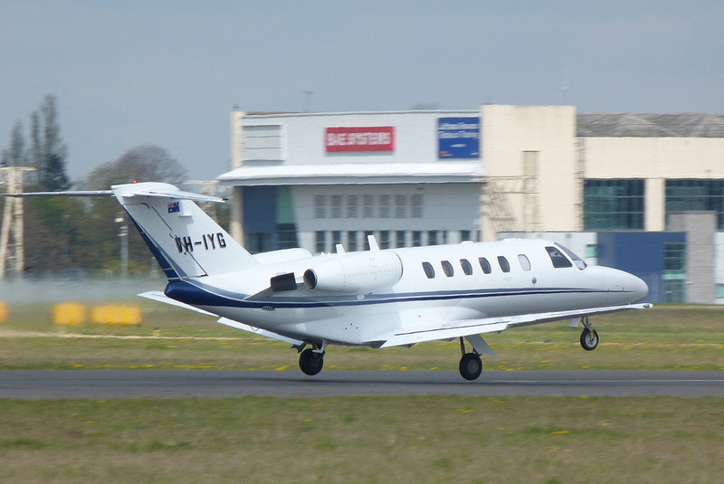 Citationjet 525 CJ2 VH-IYG on an air test<br /> By Clive Featherstone.