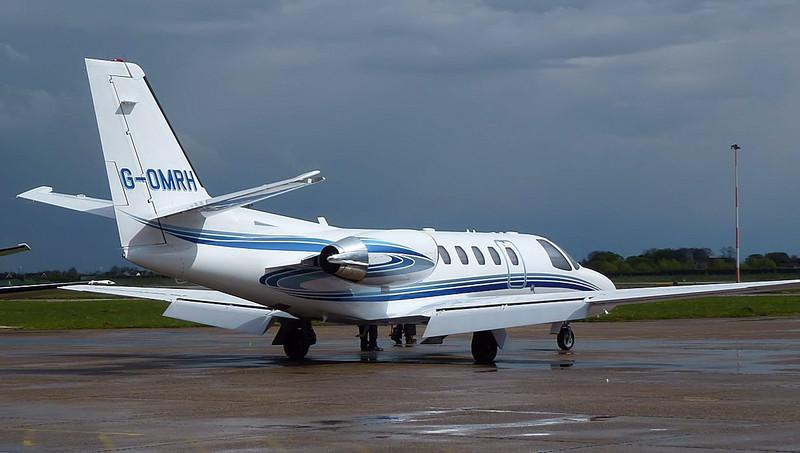 Cessna 550 Citation Bravo  G-OMRH<br /> By Correne Calow.
