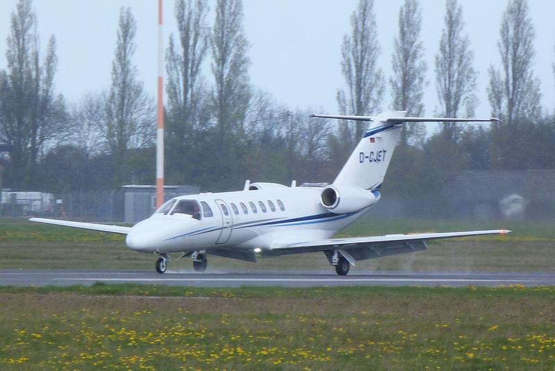 Hamburg Air Citationjet 525 CJ3 D-CJET <br /> By Clive Featherstone.