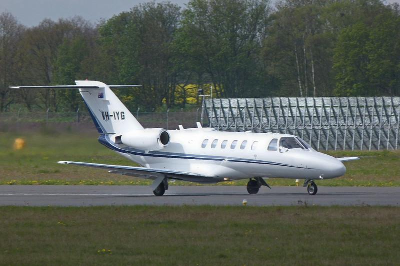 Citationjet 525 CJ2 VH-IYG on its first flight<br /> By Clive Featherstone.