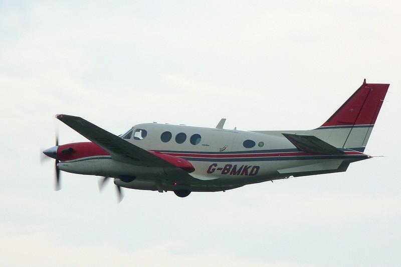 Lasham ATC Ltd Beech C90A King Air, G-BMKD.<br /> By Clive Featherstone.