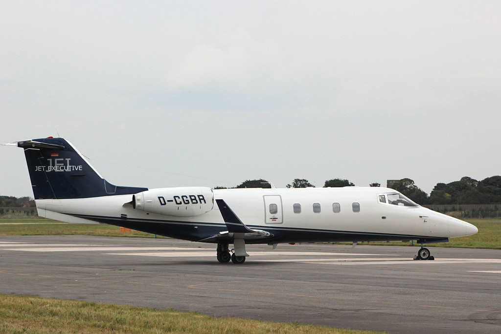 Jet Executive Learjet 55 D-CGBR <br /> By Clive Featherstone.