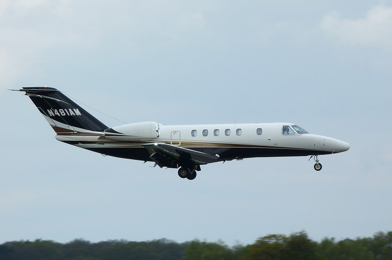 Cessna 525C CitationJet CJ4 N481AM.<br /> By Clive Featherstone.