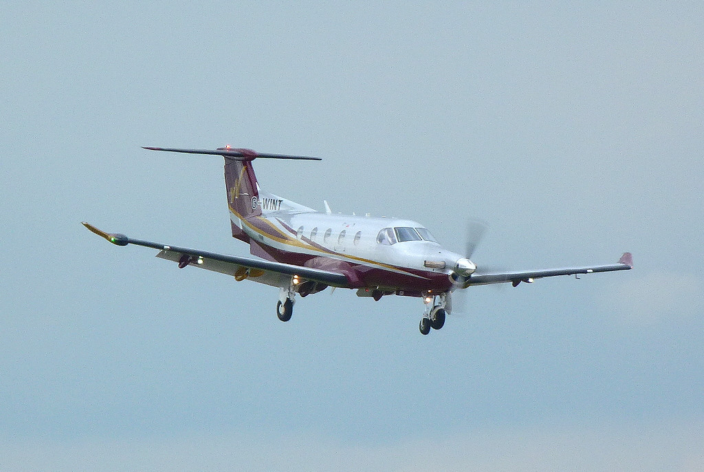 Air Winton Pilatus PC-12 G-WINT.<br /> By Clive Featherstone.