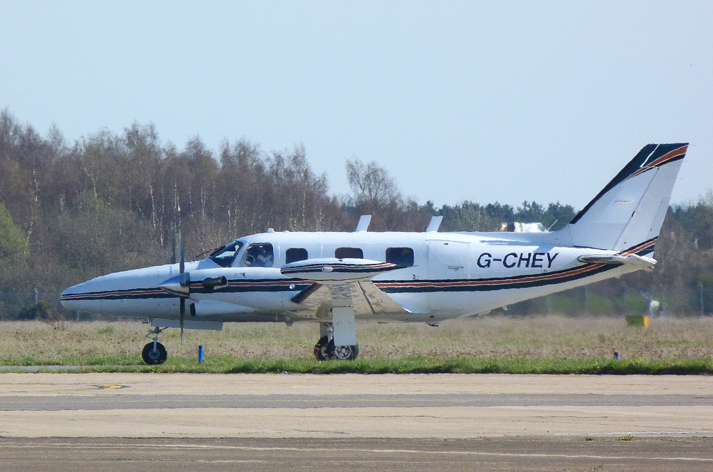 Air Medical Fleet Ltd Piper PA-31T2 Cheyenne IIXL G-CHEY.<br /> By Clive Featherstone.