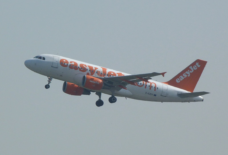 EasyJet A319 G-EZDY<br /> By Clive Featherstone.