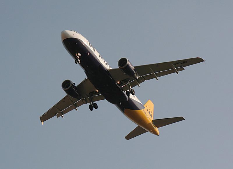 Monarch Airlines A320 G-OZBK<br /> By Graham Vlacho.