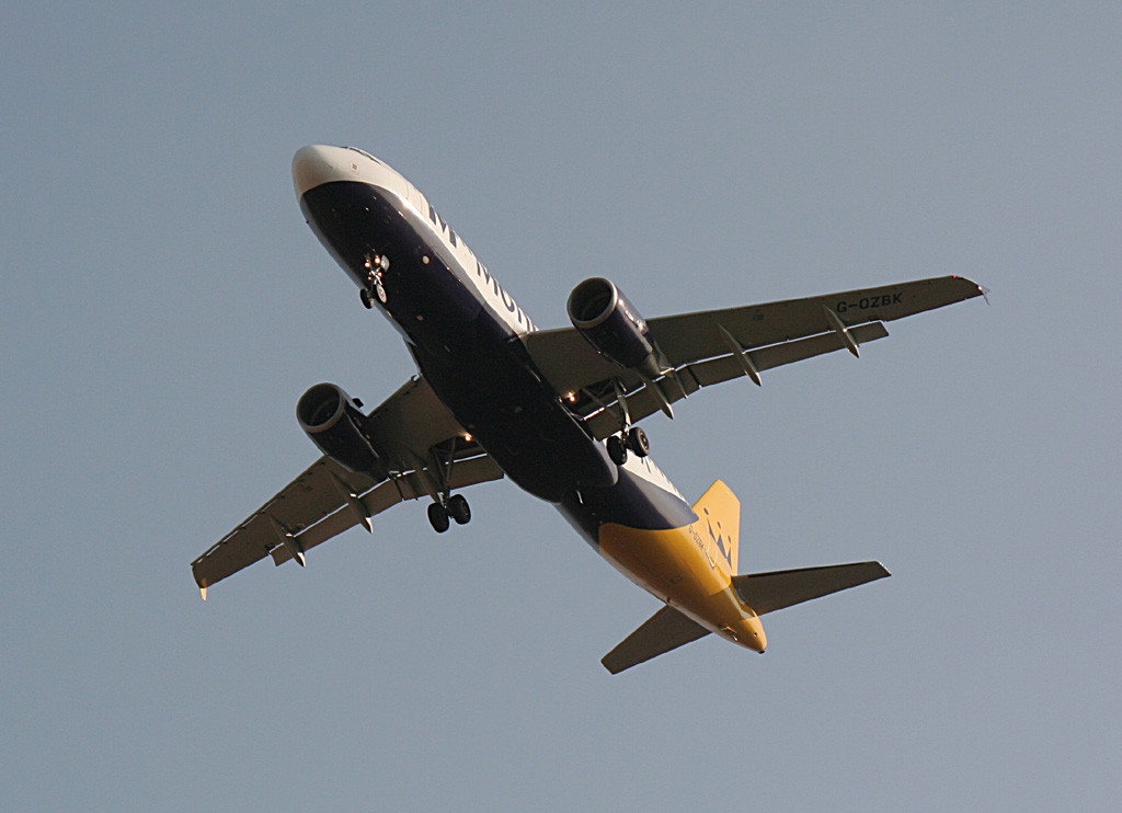 Monarch Airlines A320 G-OZBK<br /> By Graham Vlacho.
