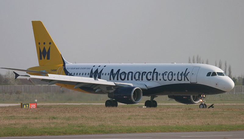 Monarch Airlines A320 G-OZBK<br /> By Jim Calow