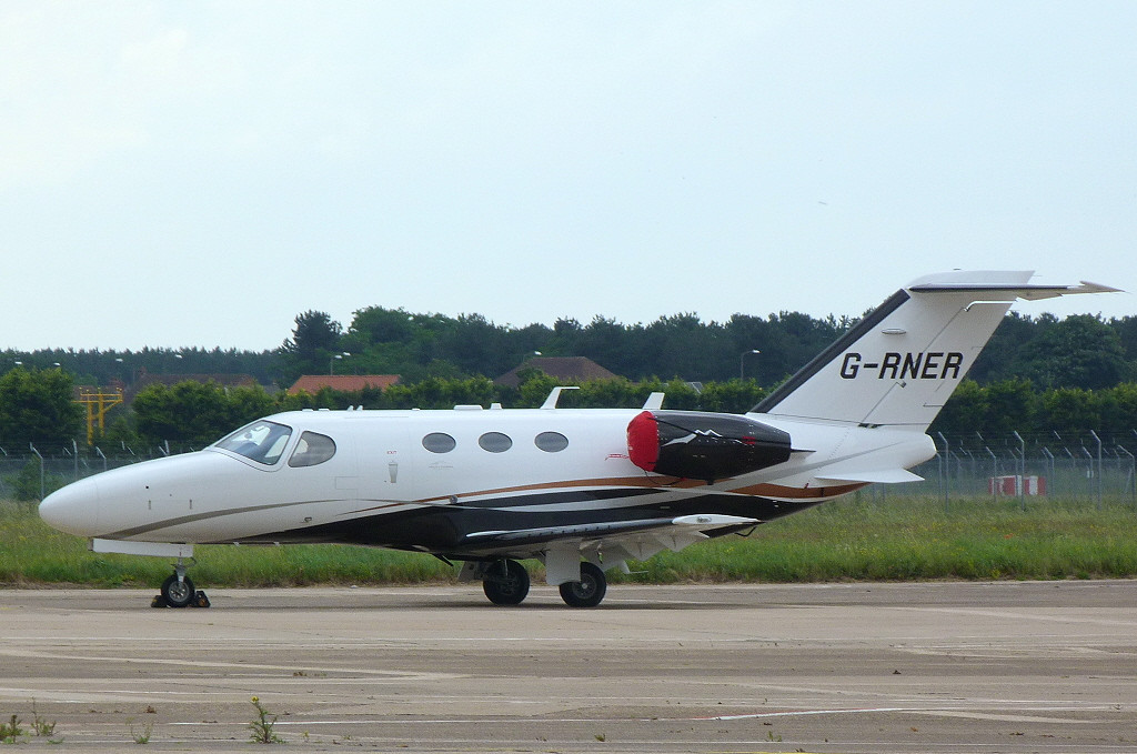 Cessna 510 Citation Mustang, G-RNER.<br /> By Clive Featherstone.