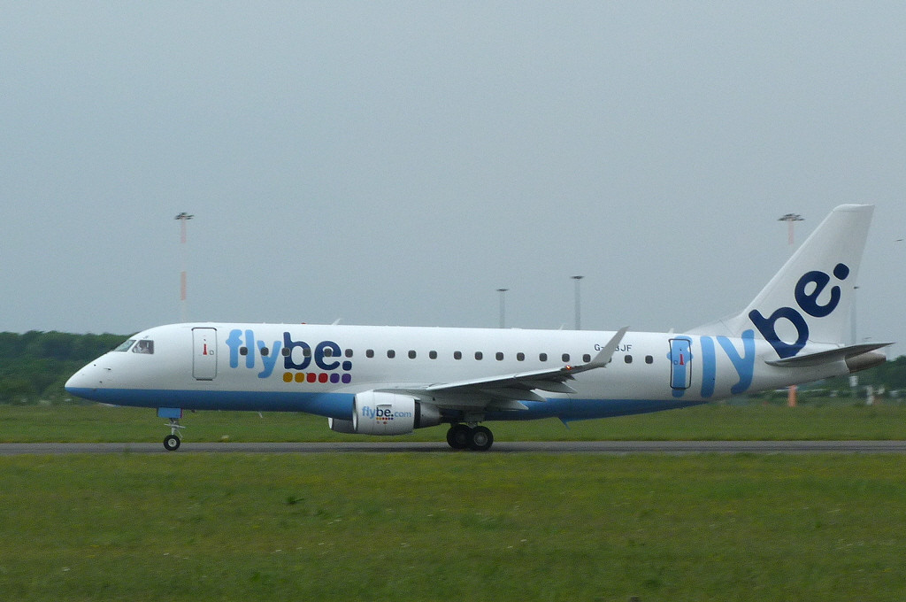 Flybe Embraer ERJ-175STD G-FBJF.<br /> By Clive Featherstone.