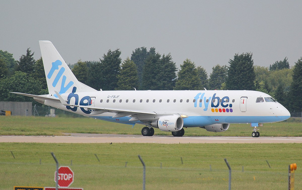 Flybe Embraer ERJ-175STD G-FBJF.<br /> By Jim Calow.