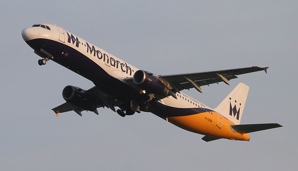 Monarch A321 G-OZBN.<br /> By Jim Calow.
