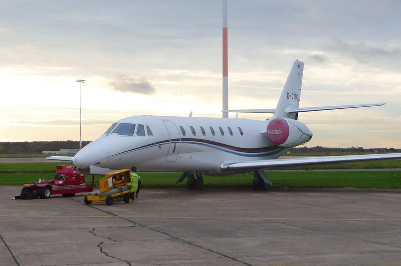 Air X Cessna Citation 680 Sovereign D-CYOU<br /> By Correne Calow.