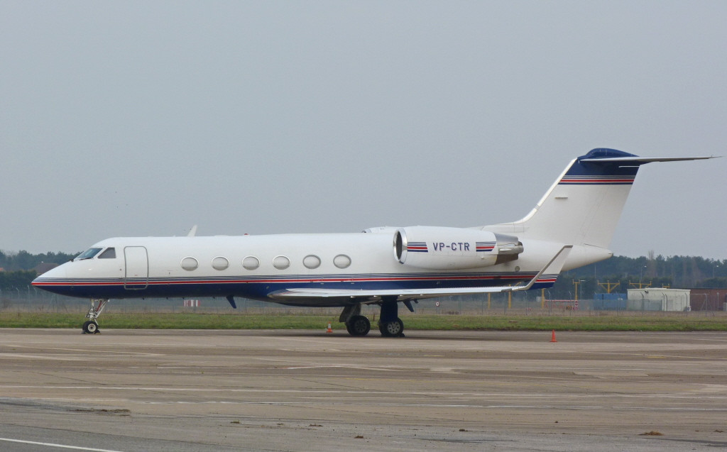 Gulfstream IV VP-CTR.<br /> By Clive Featherstone.