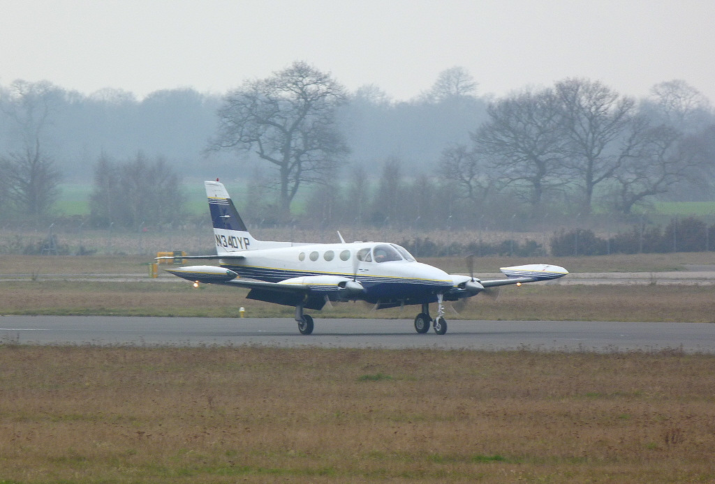 Cessna 340A N340YP.<br /> By Clive Featherstone.