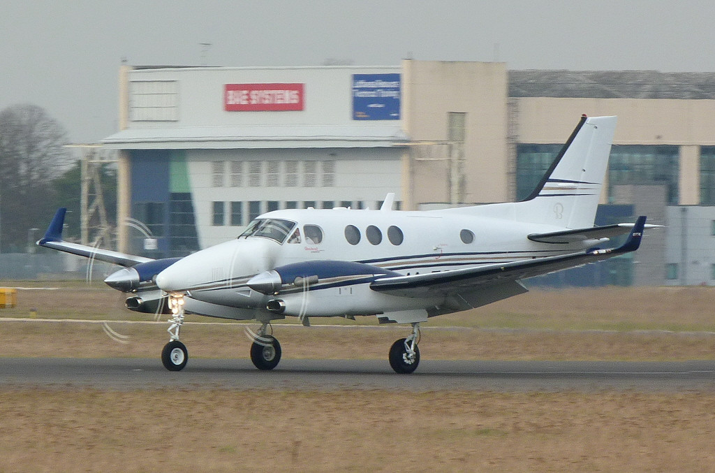 Beechcraft C90GT King Air M-TSRI.<br /> By Clive Featherstone.