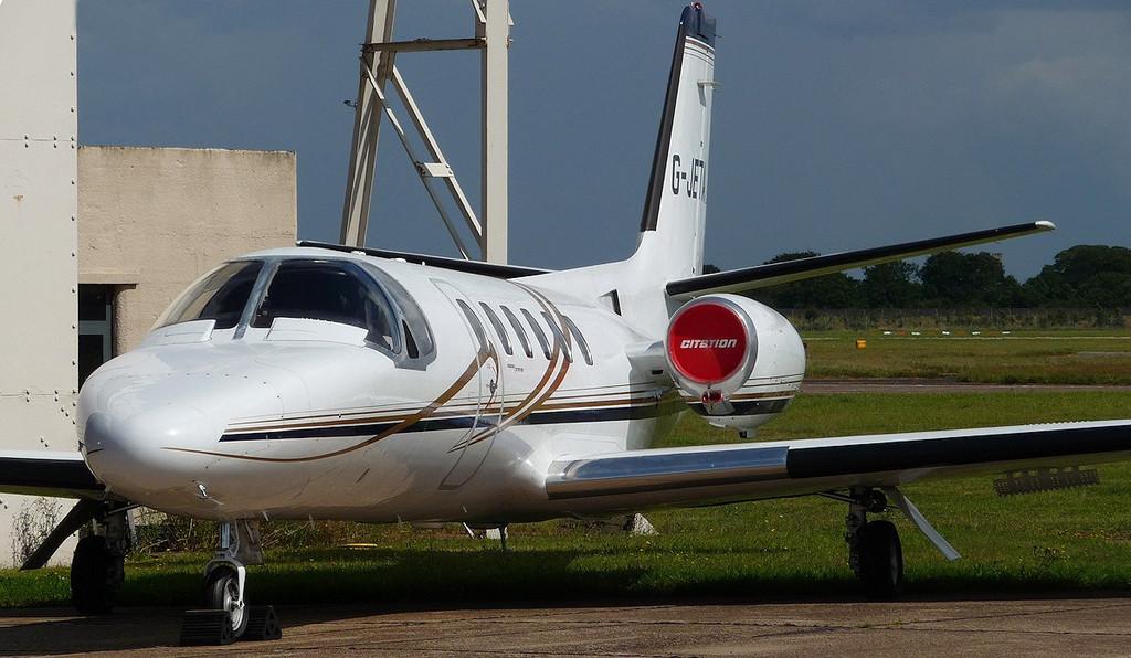 Cessna 550 Citation II  G-JETA<br /> By Correne Calow.
