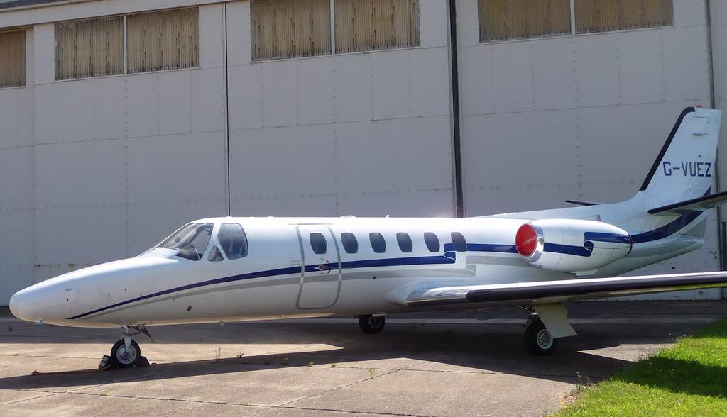 Cessna 550 Citation II  G-VUEZ<br /> By Correne Calow.