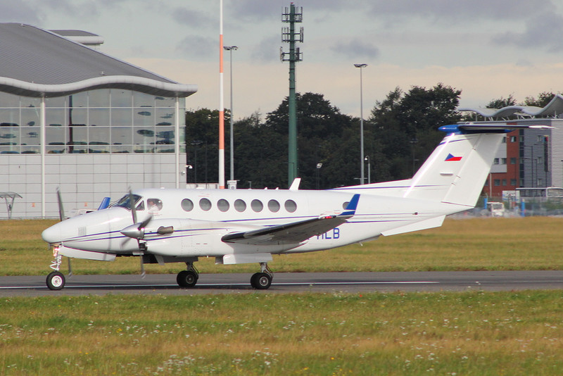Beech 350 King Air OK-HLB.<br /> By Clive Featherstone.