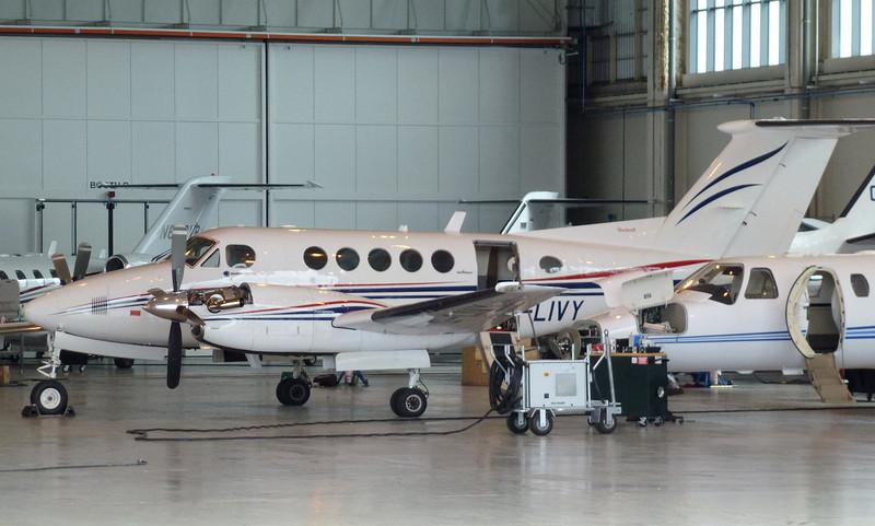 Beech Super King Air 200 G-LIVY.<br /> By Jim Calow.