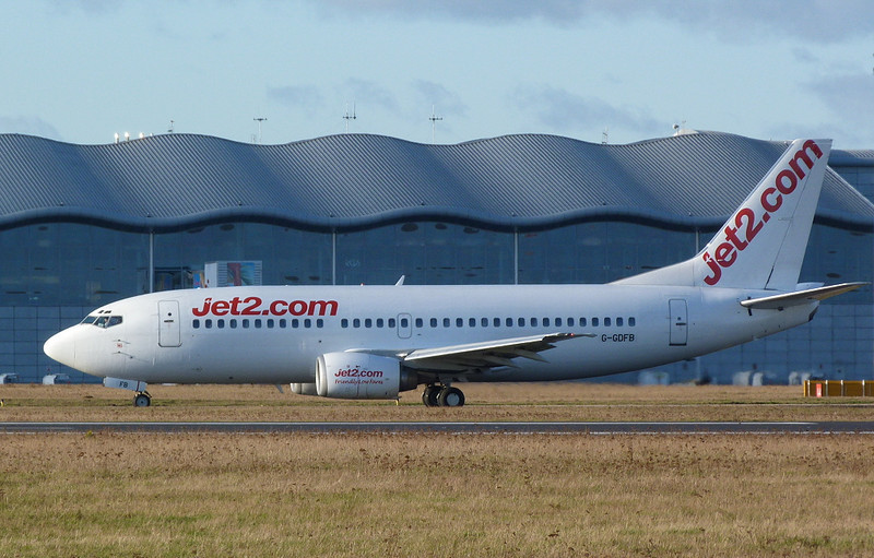 Jet2 737-300 G-GDFB.<br /> By Clive Featherstone.