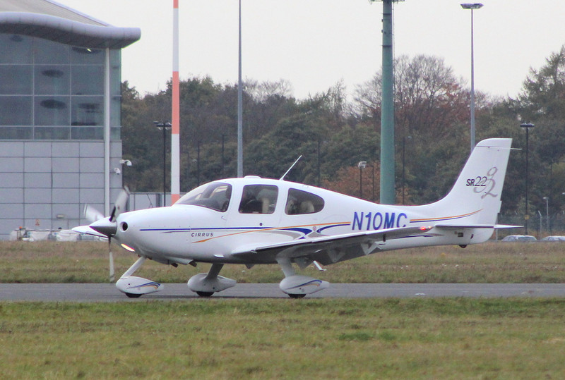 Cirrus SR22 N10MC.<br /> By Clive Featherstone.