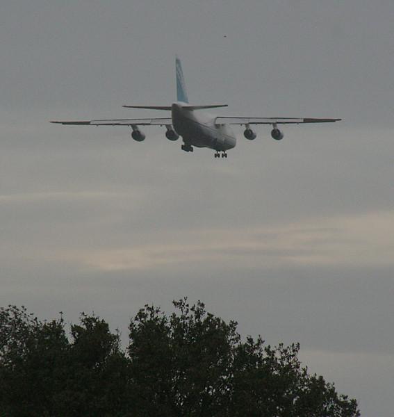 Antonov Design Bureau, An-124-100 UR-82029 descends towards runway 20.<br /> By Graham Vlacho
