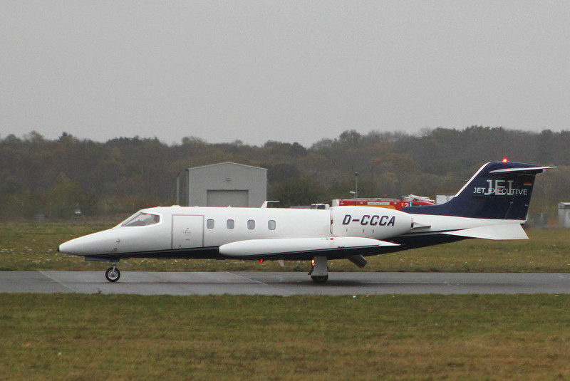 Jet Executive, Learjet 35 D-CCCA.<br />  By Clive Featherstone.