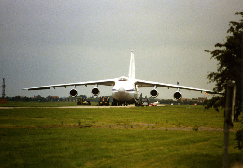 Back in 1995 and UR-82029 was operated by Air Foyle.<br /> By Clive Featherstone.