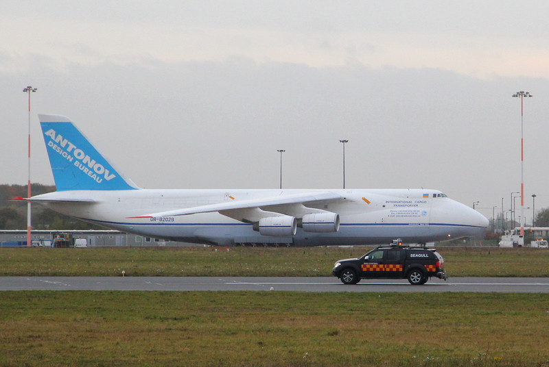 Antonov Design Bureau, An-124-100 UR-82029 parked on stand 1a.<br /> By Clive Featherstone.