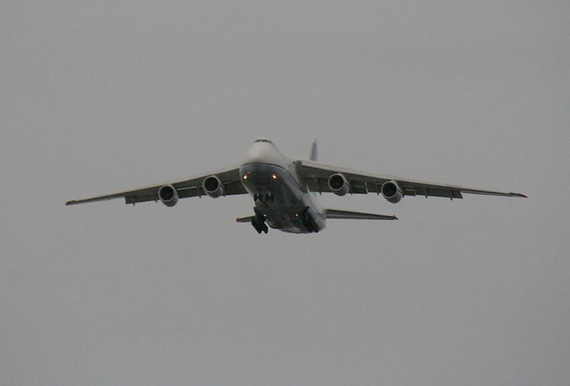Antonov Design Bureau, An-124-100 UR-82029 on approach near Lindholme.<br /> By Graham Vlacho.