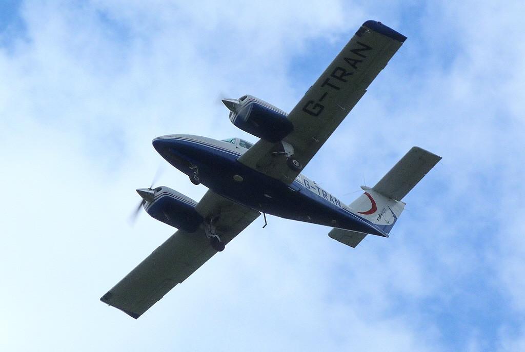 Multiflight Beech 76 Duchess, G-TRAN.<br /> By Clive Featherstone.