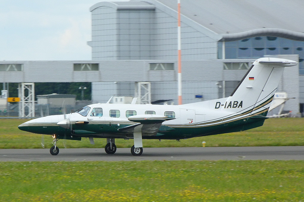 A first time visitor........Piper PA-42-720 Cheyenne IIIA, D-IABA.<br /> By Clive Featherstone.