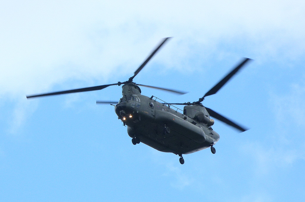 RAF Chinook HC3R ZH901 makes a first visit to DSA.<br /> By Clive Featherstone.