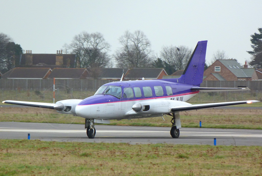 Piper PA-31-350 Chieftain OY-NJV.<br /> By Clive Featherstone.