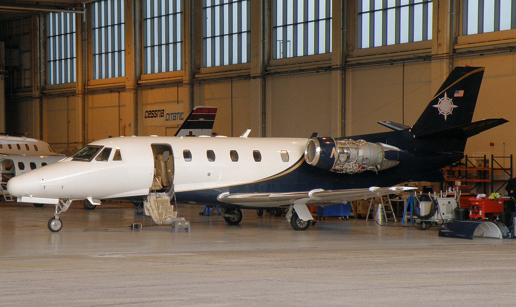 Cessna 560XL Citation Excel, N188WS.<br /> By Correne Calow.