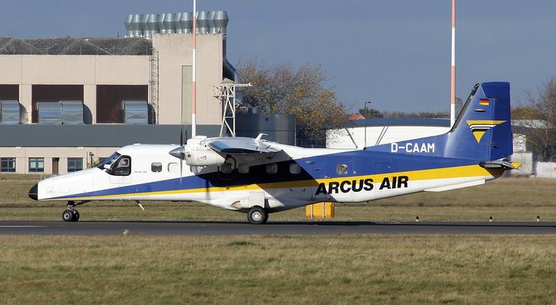 Arcus Air Dornier Do.228 D-CAAM.<br /> By Jim Calow.