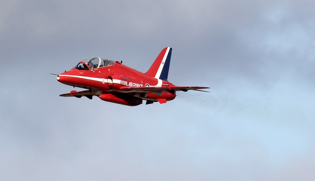 'Red 10' Hawk T1A XX319.<br /> By Jim Calow.