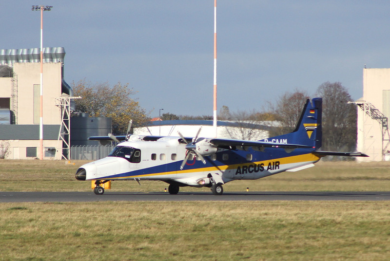 Arcus Air Dornier Do.228 D-CAAM.<br /> By Clive Featherstone.