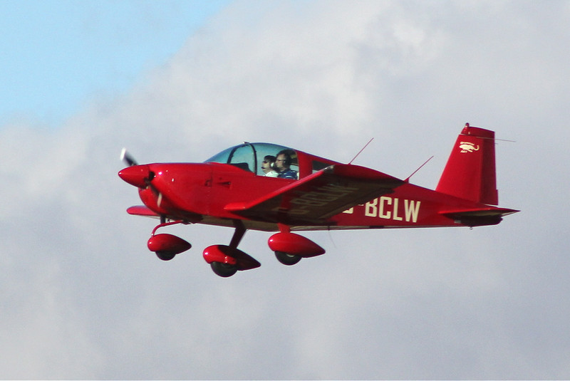 Doncaster Flying School's Grumman AA1 G-BCLW.<br /> By Clive Featherstone.