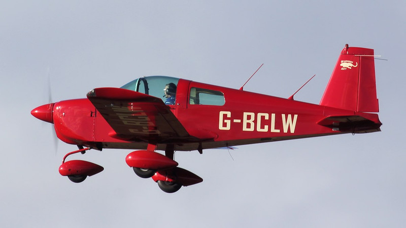Doncaster Flying School's Grumman AA1 G-BCLW.<br /> By Jim Calow.
