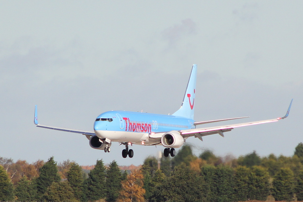 Thomson Airways 737-800 G-TAWJ.<br /> By Clive Featherstone.